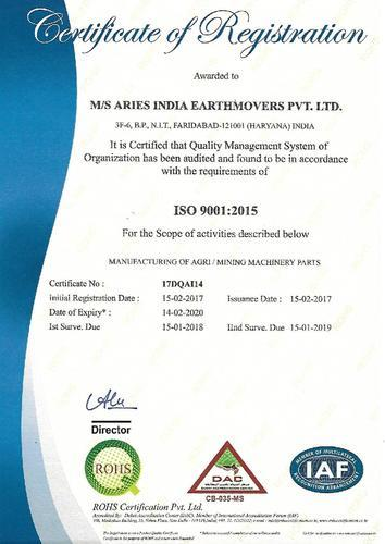 Aries India Earthmovers Private Limited - Manufacturer from