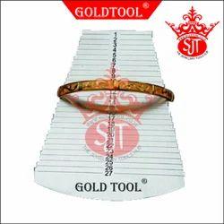 Gold Tool Bangle Metal Gauge