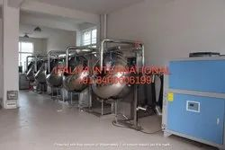 Cashew Salt And Spices Coating Pan Machine