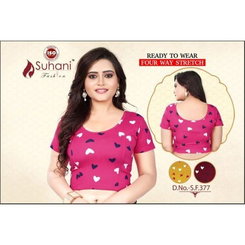 Simmer Printed Fancy Blouses, Size: 32-36 Inch