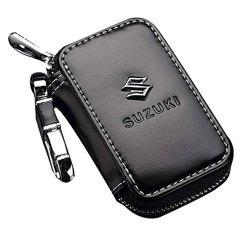 Black Premium Leather Car Key Chain Coin Holder