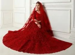 Alizeh Net With Embroidery Bridal Lehenga