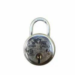 Silver Steel Push Lock Padlock