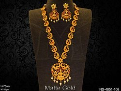 Laxmi Mogappu Temple Necklace Set