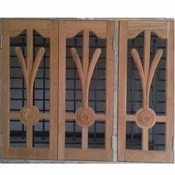 Brown Standard Designer Wooden Window