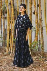 Rayon Designer Poncho Style Kurti