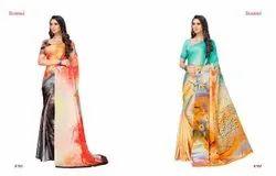 Plain Casual Wear Designer Saree, Wash Care: Hand Wash, Size: X-XL