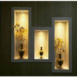 Square Plywood Decorative Wall