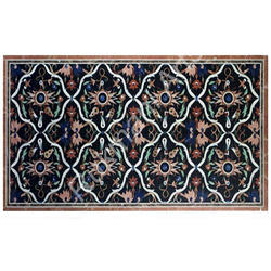 Jasper Inlay Work Marquetry Decor Table Top