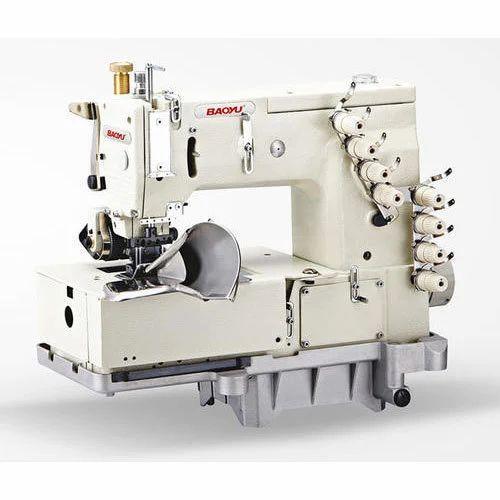 SemiAutomatic Bml40p Multineedles Chain Stitch Machine ID Simple 4 Needle Elastic Sewing Machine