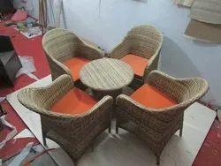 Wicker Coffee Table Set