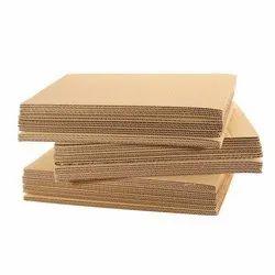 Brown Cardboard Corrugated Sheet, Size: A4
