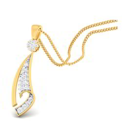 Modern Look Gold Diamond Pendant