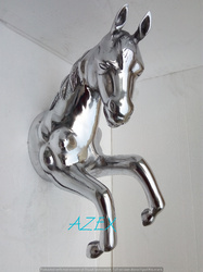 Large Metal Wall Mount Horse Sculpture Statue