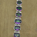 Mystic Gemstone Jewelry 925 Sterling Silver Bracelet