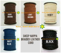Sheep Nappa Braided Leather Cord