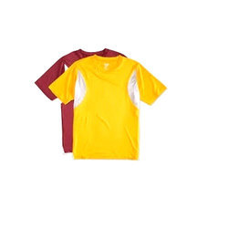 Red And Yellow Polyester Kids Sports T Shirt