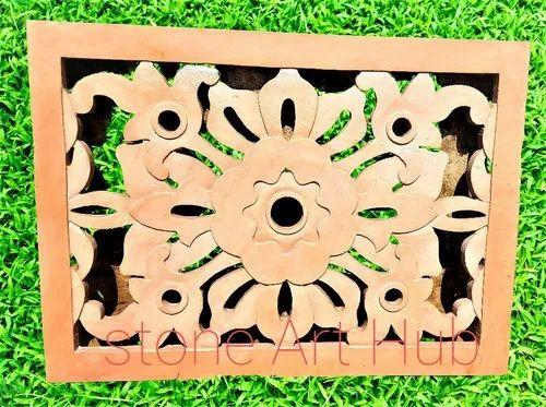Decorative Sandstone Jali, Thickness: 3 Inch