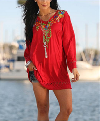 Fancy / Designer Embroidery Tunic Tops for Women