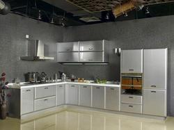 L Shape Stainless Steel Modular Kitchen, in India, Warranty: 1-5 Years