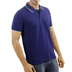 Mens Polo Neck Purple T-Shirt