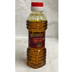 200 ml Nutrela Kachi Ghani Mustard Oil Bottle