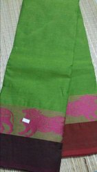 80 Count Chettinad Cotton Handloom Saree with Blouse