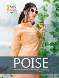 Tunic House Poise Pure Linen Embroidery Work  Kurti Catalog Collection