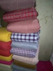 y Handloom Cotton Fabric, for Dress, Packaging Type: Roll