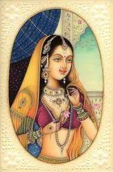 LaMu Paper Beautiful Hand Made Rajasthani Miniature Art Painting