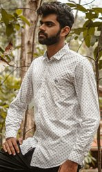 Cotton Collar Neck Mens Shirt