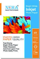 Neha Photo Paper 180gsm  4x6 (Pack Of 100)