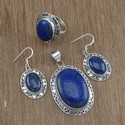 925 Sterling Silver Lapis Lazuli Gemstone Jewelry Sets