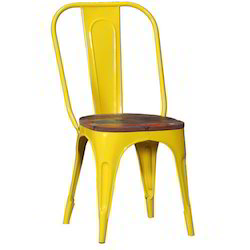 Tolix Chair With Wooden Top