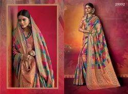 Multi Colored Art Silk Saree