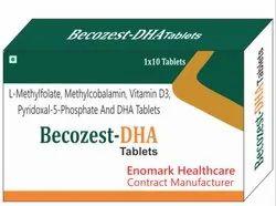 L-Methylfolate, Methylcobalamin, Vitamin D3 Pyridoxal And Dha Tablets