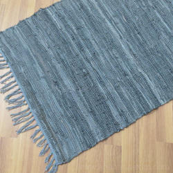 Leather Chindi  Rug