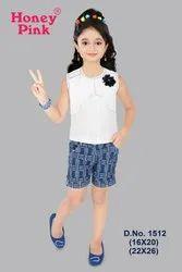 Lycra Regular Fit Girls Fancy Denim Wear