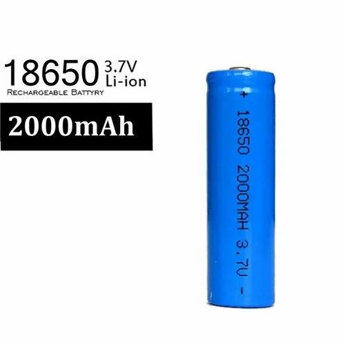 3.7 Volt 18650 2000mAh Lithium ion Rechargeable Battery
