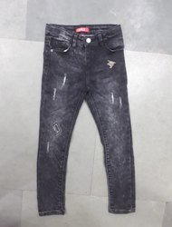 Casual Wear Stretchable Kids Fadded Jeans, Machine wash