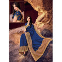 Navy Blue Ladies Saree