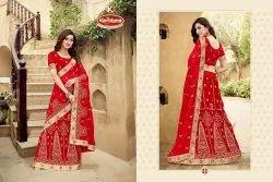 Designer Bridal Lehenga Saree - Aadilaxmi