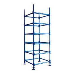Oil Paint Coloured Mild Steel Vertical / Standard Scaffolding for Civil Construction Work