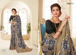 Heritage Gicha Silk With Jacquard Border Saree