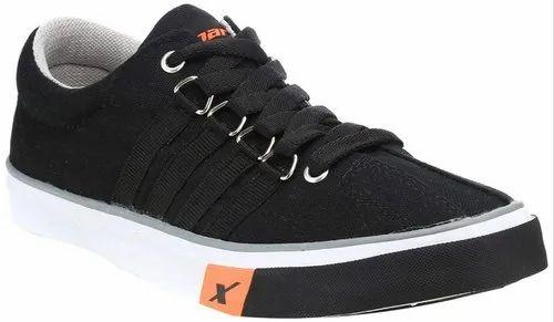 Black Casual Wear Sparx canvas shoes