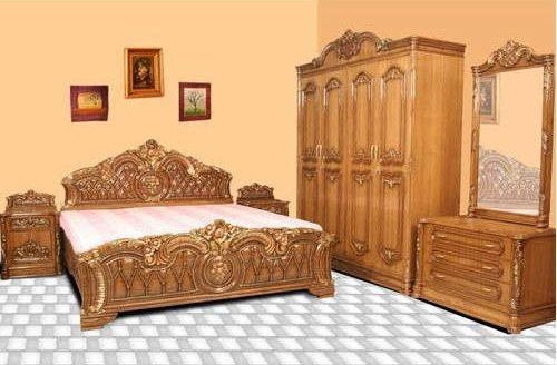 Sarama Steel Teak Wood Bedroom, Wood And Steel Bedroom Furniture