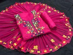 Regular Wear Embroidered Women Heavy Chanderi Dress Material-GU