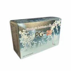 PG-20 Capsules, Packaging Type: Box