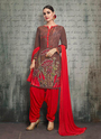 Foil Printed Fancy Rayon Punjabi Suits