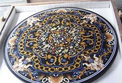 Gemstone Marble Inlay Table Tops